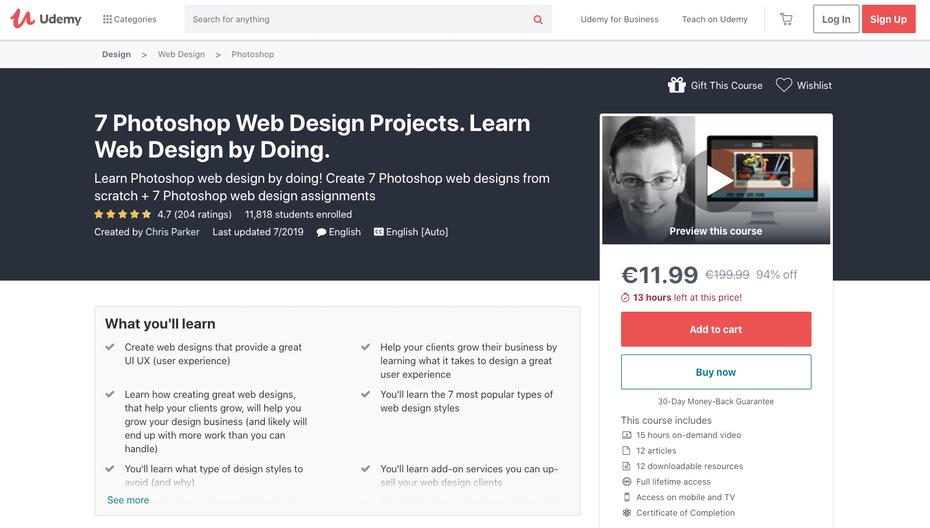 """Снимок экрана учебных пособий по веб-дизайну Udemy """"width ="""" 1436 """"height ="""" 816 """"/>    <figcaption> через Udemy.com </figcaption></figure> <p> <strong> Убедитесь, что вы ознакомились: </strong> </p> <p> 7 Photoshop Web Design Projects. Изучите веб-дизайн, делая. Photoshop — популярная программа для веб-дизайнеров. Этот курс на самом деле состоит из семи уроков в одном, и все они направлены на создание веб-дизайна с нуля в Photoshop. Он охватывает дизайн, который должен знать, например, как удалять фигуры с фона, не разрушая изображения, и как выровнять несколько слоев, а также вещи, которые вы хотите знать, если вы хотите стать профессиональным веб-дизайнером, например, как выделиться среди конкуренция и как помочь вашим клиентам развивать свой бизнес с помощью отличного веб-дизайна. </p> <p> <strong> Также не пропустите: </strong> </p> <figure data-id="""
