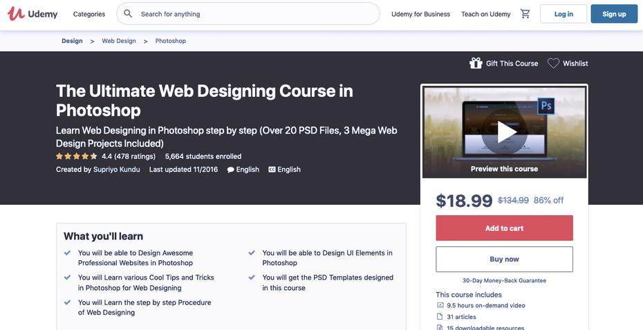 """Снимок экрана учебных пособий по веб-дизайну Udemy """"width ="""" 1233 """"height ="""" 632 """"/>    <figcaption> через Udemy.com </figcaption></figure> <p> <strong> О Udemy: </strong> </p> <p> Udemy — одно из самых надежных имен в учебниках по веб-дизайну. Часто это лучший выбор для дизайнеров, которые хотят освоить новую тему или навык. Это отчасти благодаря их модели «оплата по факту» — вместо того, чтобы покупать членство или подписку, вы покупаете отдельные курсы, поэтому вы платите только за то, что вам нужно. </p> <p> Поскольку Udemy очень популярен, у них есть надежная система оценки курсов, поэтому вы можете увидеть, какие классы стоят того. Это вдвойне важно, потому что есть так много классов, еще одно преимущество, если вы хотите найти менее популярные темы, такие как Теория Гештальта или дизайн для отдельных тем. </p> <p> <strong> Особенности: </strong> </p> <ul> <li> Веб-разработка </li> <li> Дизайн сайта WordPress </li> <li> Отзывчивые учебники веб-дизайна </li> <li> Программное обеспечение для веб-дизайна </li> </ul> <p> <strong> Цена: </strong> </p> <ul> <li> Цены варьируются в зависимости от класса, но большинство составляют $ 18,99 </li> <li> Количество часов также варьируется, поэтому проверьте, получаете ли вы свои деньги </li> <li> Некоторые бесплатные занятия. </li> </ul> <p> <strong> Рекомендуется для: </strong> </p> <ul> <li> Сборщики вишни — вы можете платить только за те классы, которые вам нужны </li> <li> Учащиеся, которые не могут найти конкретные темы в других местах. </li> </ul> <h3><span id="""