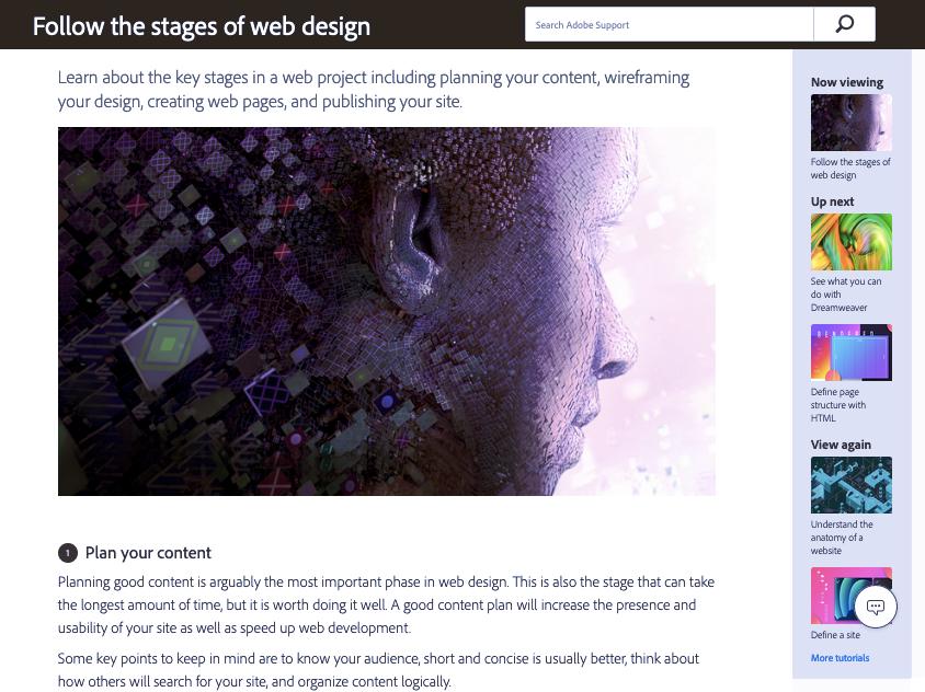 """Снимок экрана: учебники по веб-дизайну Dreamweaver """"width ="""" 844 """"height ="""" 632 """"/>    <figcaption> с помощью учебников Dreamweaver </figcaption></figure> <p> <strong> О руководствах Dreamweaver4: 1919 ] </p> <p> Для ясности, Adobe Dreamweaver CC — это отдельное программное обеспечение для веб-дизайна, которое считается лидером среди профессиональных дизайнеров. Их блог Dreamweaver Tutorials предлагает десятки статей и видеороликов с подробными уроками веб-дизайна, посвященными как самим методам проектирования, так и их применению в Dreamweaver. </p> <p> Интересно, что вам не нужно использовать Dreamweaver, чтобы учиться на этих уроках, но это помогает. Большим преимуществом является то, что этот контент бесплатный, что делает его отличной отправной точкой, если у вас мало денег. </p> <p> <b> Предметные </b> <strong>: </strong> </p> <ul> <li> Проектирование в Dreamweaver CC </li> <li> Отзывчивые учебники веб-дизайна </li> <li> Составление схемы процесса проектирования </li> <li> Веб-разработка </li> </ul> <p> <strong> Цена: </strong> </p> <p> <strong> Рекомендуется для: </strong> </p> <ul> <li> Учащиеся пристегнуты за наличные </li> <li> Дизайнеры, которые любят Dreamweaver CC </li> </ul> <h3><span id="""