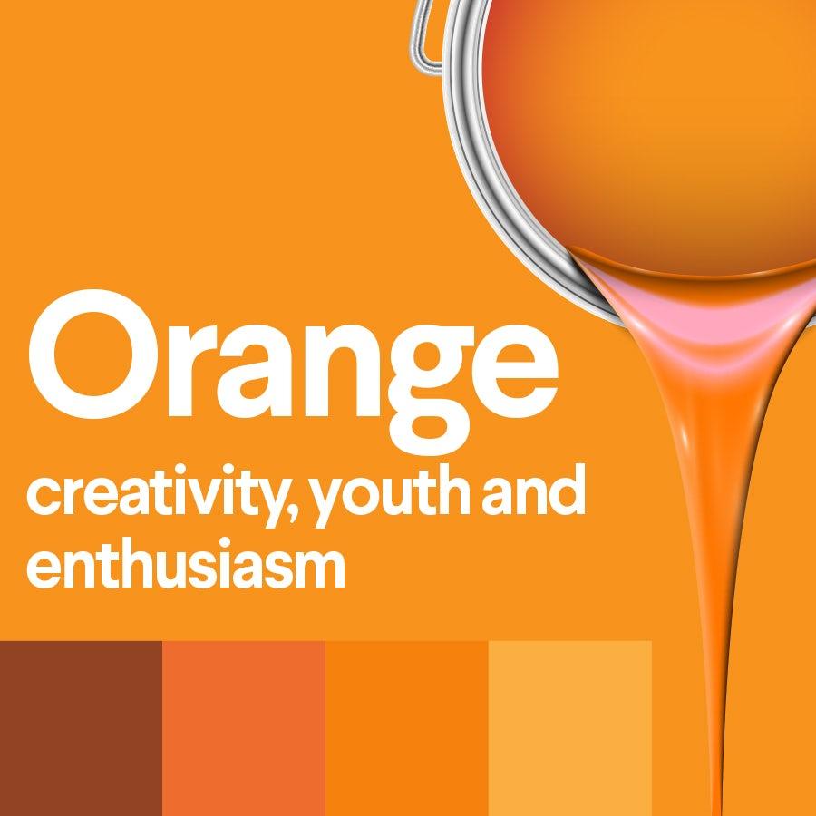 Что означает оранжевый: психология цвета апельсина