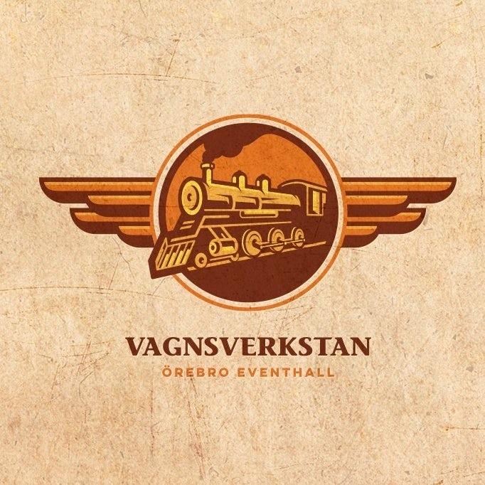 коричневый логотип поезда