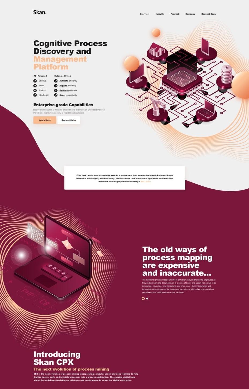 изометрический дизайн целевой страницы