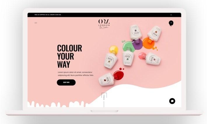 """забавный, современный и пастельный веб-дизайн для бренда лака для ногтей """"width ="""" 710 """"height ="""" 426 """"/>    <figcaption> Привлекательный веб-сайт заставляет людей хотеть покупать у вас. Веб-дизайн JPSDesign </figcaption></figure> <p> Вы также хотите решить, какие продукты вы будете размещать на своей странице. Выберите горстку и убедитесь, что профессиональные фотографии их использовать на главной странице. Это очень важно, так как плохая фотография одна причина, по которой многие покупатели отправляются в другие места перед покупкой. </p> <p> Кроме того, он также должен быть мобильным. Если вы используете хорошую платформу для электронной коммерции, ваш магазин будет автоматически работать со смартфонами и планшетами, но обязательно перепроверьте, открыв его на различных типах устройств. </p> <p> Посмотрите следующую статью для получения дополнительных советов по выдающемуся дизайну веб-сайтов электронной коммерции. </p> <h2><span id="""