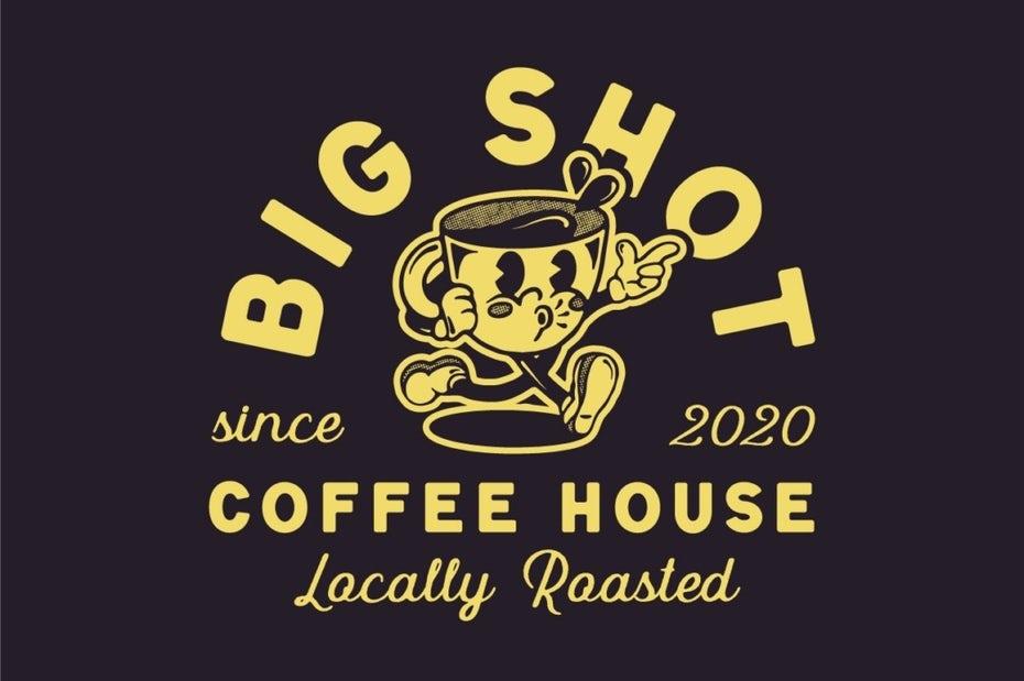 """бизнес-логотип желтого и темно-коричневого цвета с изображением антропоморфной кофейной чашки и текстом """"width ="""" 1048 """"height ="""" 697 """"/>    <figcaption> Дизайн логотипа Анастасии С. </figcaption></figure> <h3><span id="""