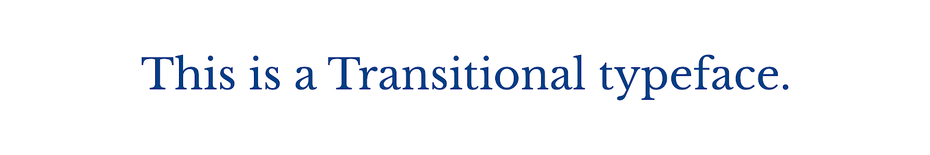 Переходный шрифт