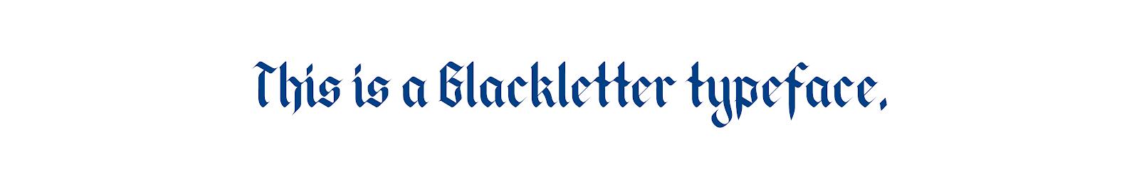 Готический или черный шрифт