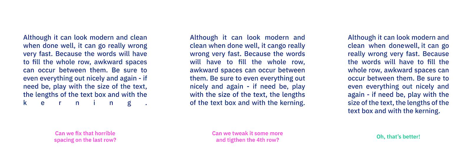 Выравнивание шрифта