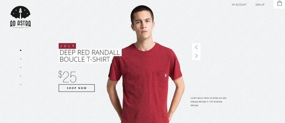 """Дизайн целевой страницы для бренда мужской модной одежды """"width ="""" 1088 """"height ="""" 470"""