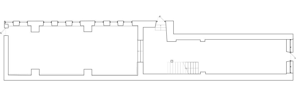 Пекарня на подиуме — проект бюро Miyao. Обмерный план помещения