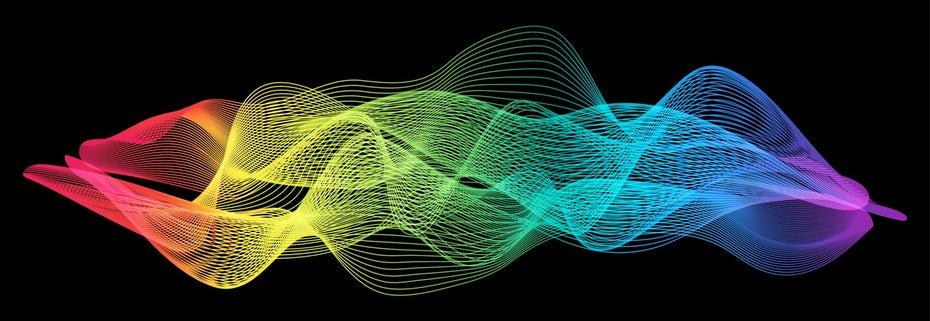 """Электромагнитный спектр с выделенным видимым светом. """"Width ="""" 2560 """"height ="""" 883"""