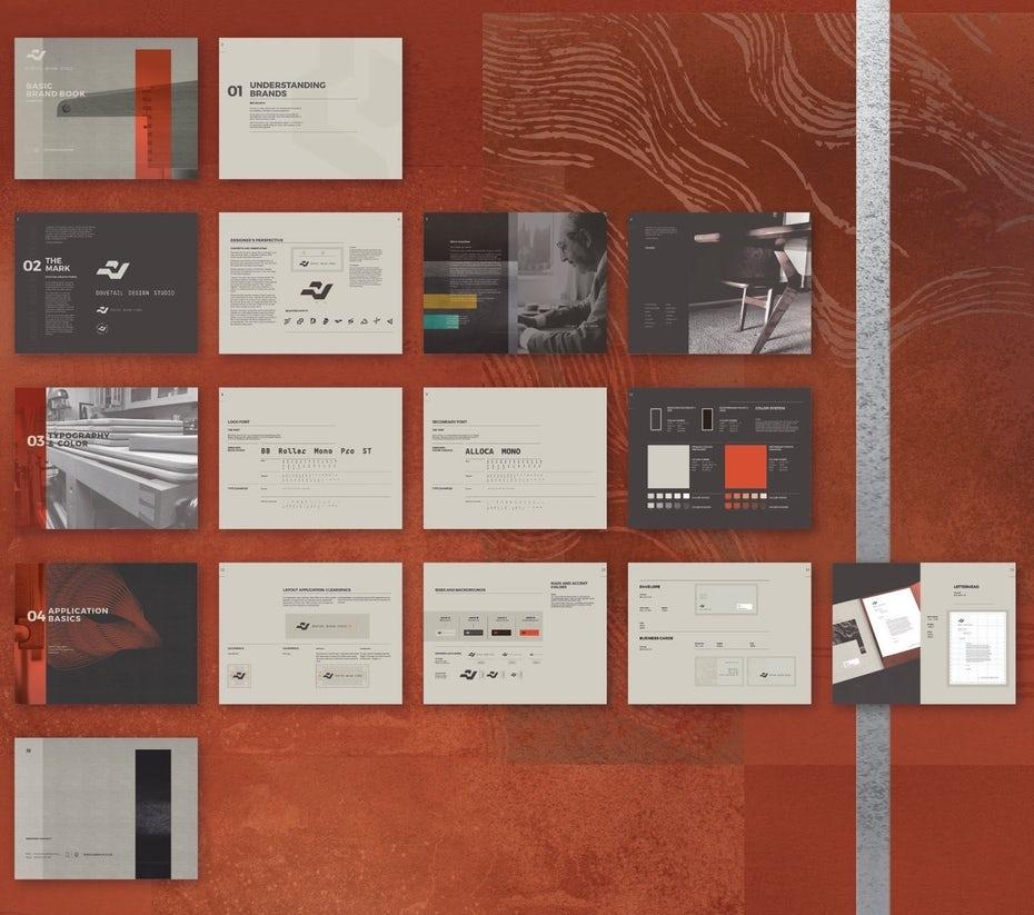 """Макет дизайна руководства по брендовой книге на оранжевом фоне """"width ="""" 1600 """"height ="""" 1416 """"/>    <figcaption> Руководство по бренду Ian Douglas </figcaption></figure> <p> Визуальная идентификация — это то, как вы формировать восприятие и создавать впечатление с помощью видимых элементов вашего бренда. Изображения являются мощной формой общения, особенно потому, что они не общаются словами. Они говорят на первичном, эмоциональном уровне и, следовательно, более убедительны. Но с большой силой общение сопряжено с большой ответственностью: вам нужно быть очень осторожным, чтобы не отправлять неправильное сообщение. </p> <div class='code-block code-block-2 ai-viewport-1 ai-viewport-2' style='margin: 8px 0; clear: both;'> <!-- Yandex.RTB R-A-268541-2 --> <div id="""