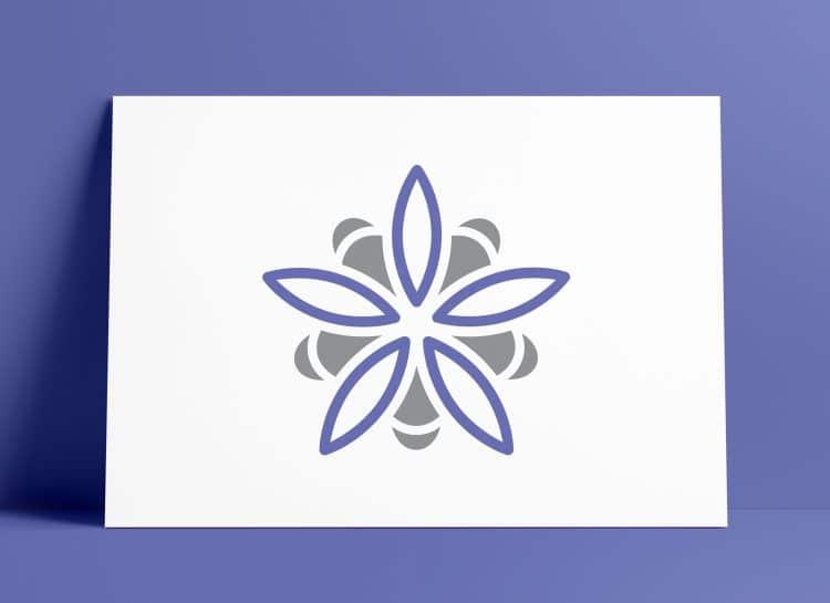Растения Rosybee для пчел Логотип Mark Дизайн логотипа Смит