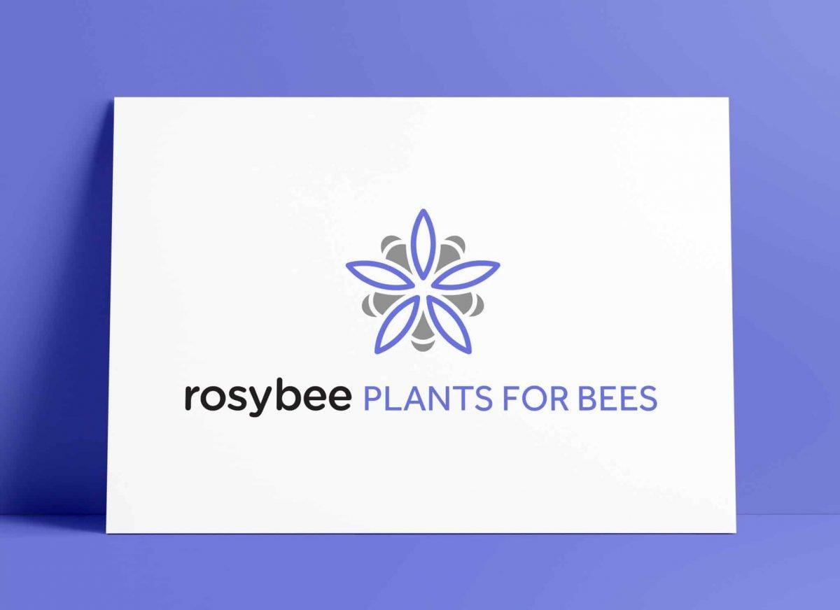 RosyBee Логотип «Растения для пчел» Дизайн логотипа Смит