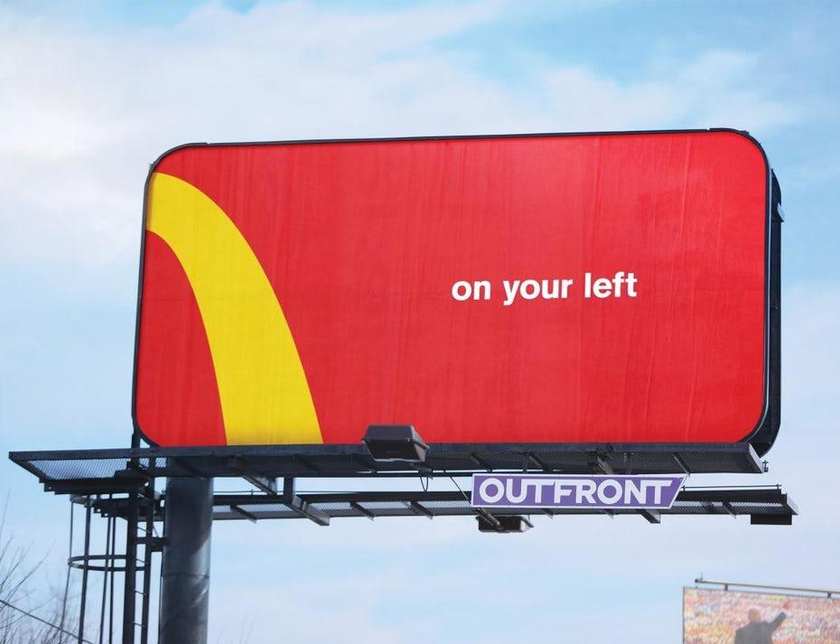 Рекламный щит McDonalds