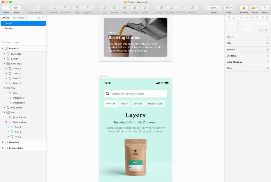 """Скриншот интерфейса Sketch """"width ="""" 2560 """"height ="""" 1718 """"/>    <figcaption> Sketch создан для цифрового дизайна, как в Интернете, так и на мобильных устройствах. Изображение через Sketch </figcaption></figure> <p> С другой стороны, Sketch <em> не </em> создан для обработки сложных текстур и эффектов Photoshop. Он также полностью основан на векторах — он по-прежнему отображает растровые изображения, такие как фотографии, но создает или редактирует эту графику должен выполняться в отдельном растровом редакторе. Несмотря на это, его простота использования и ориентированность на веб-интерфейс заставили многих веб-дизайнеров отказаться от Photoshop навсегда. </p> <figure data-id="""
