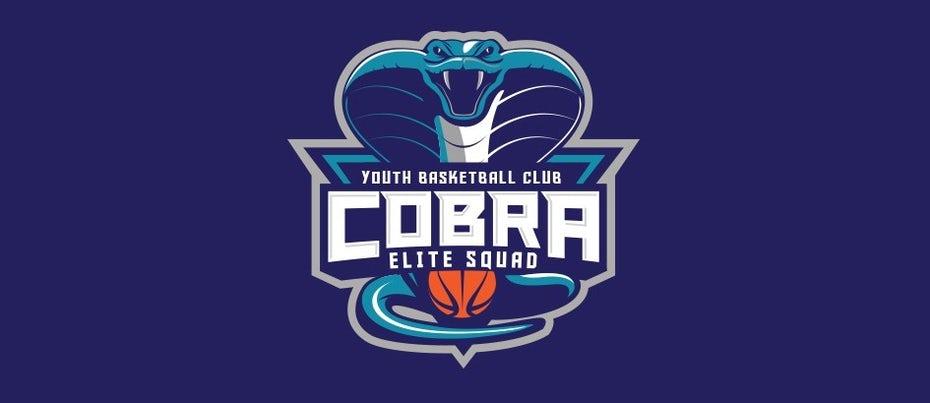 """спортивный логотип молодежного баскетбольного клуба Cobra """"width ="""" 945 """"height ="""" 410"""