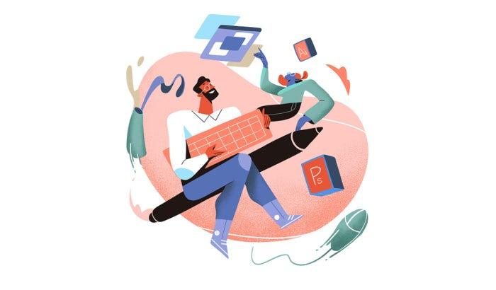 """Иллюстрация дизайнера, работающего с клиентом """"width ="""" 700 """"height ="""" 410 """"/>    <figcaption> Сотрудничество — это искусство, которое нужно освоить каждому внештатному дизайнеру. Иллюстрация felipe_charria </figcaption></figure> <div id="""