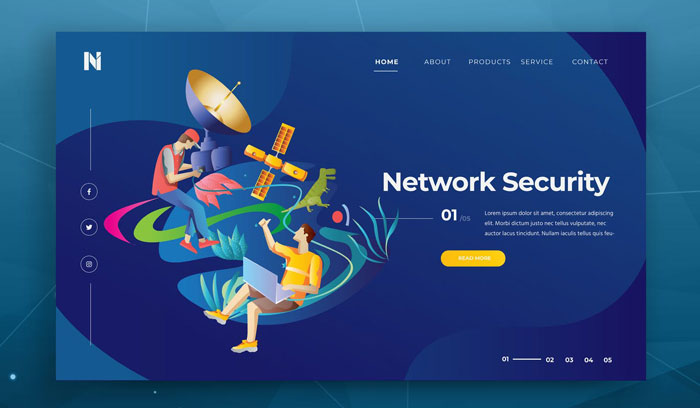 PSD и шаблон веб-заголовка сетевой безопасности
