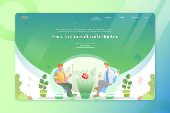 Заголовок целевой страницы иллюстрации здоровья