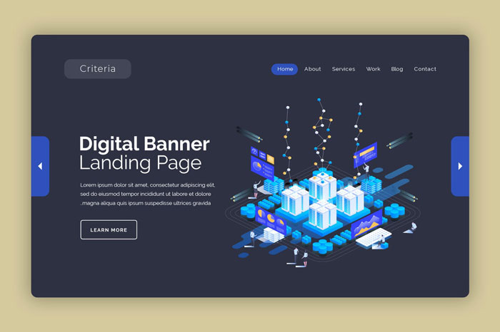 Баннер целевой страницы цифровой платформы