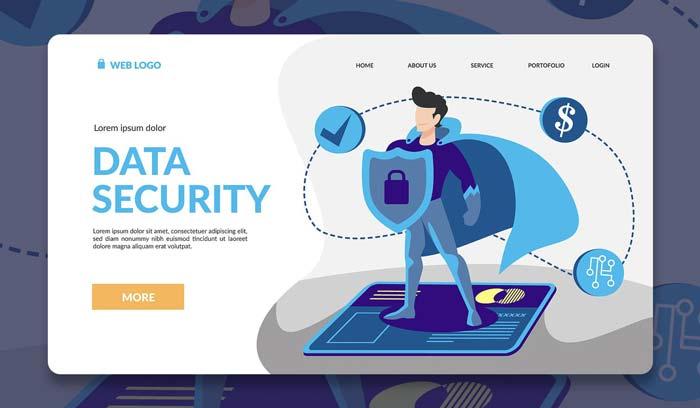 Иллюстрация целевой страницы героя безопасности
