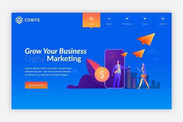 Шаблон баннера для бизнес-сайта