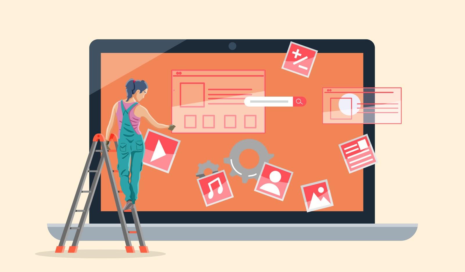 """Иллюстрация персонажа, создающего веб-сайт """"width ="""" 1600 """"height ="""" 938 """"/>    <figcaption> Конструкторы веб-сайтов становятся все более популярными, поскольку делают создание веб-сайтов более доступным и интуитивно понятным. Дизайн OrangeCrush </figcaption></figure> <p> Хотя конструкторы веб-сайтов по-прежнему используют готовые шаблоны, многие из них также включают инструменты индивидуального проектирования, услуги хостинга, функции безопасности и аналитики на одной платформе. Компании любого размера и бюджета интегрировали конструкторы веб-сайтов в свой рабочий процесс , быстрое создание и запуск веб-страниц без особого написания кода. </p> <p> Конструкторы веб-сайтов снимают много стресса и затрат с процесса веб-дизайна, но новички все равно могут счесть их сложными в использовании. Есть так много вариантов на выбор, с огромным количеством различных конструкторов и огромным количеством тем, шаблонов и надстроек, предлагаемых каждым. Чтобы упростить задачу, мы составили это исчерпывающее руководство по выбору лучших конструкторов веб-сайтов и их использованию, включая то, на что обращать внимание при выборе вашего. </p> <h2 id="""
