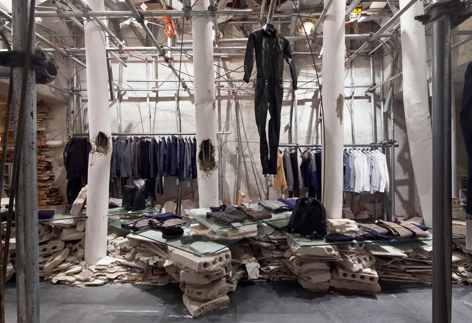 Patrik Ervell pop-up store by Graham Hudson in New York