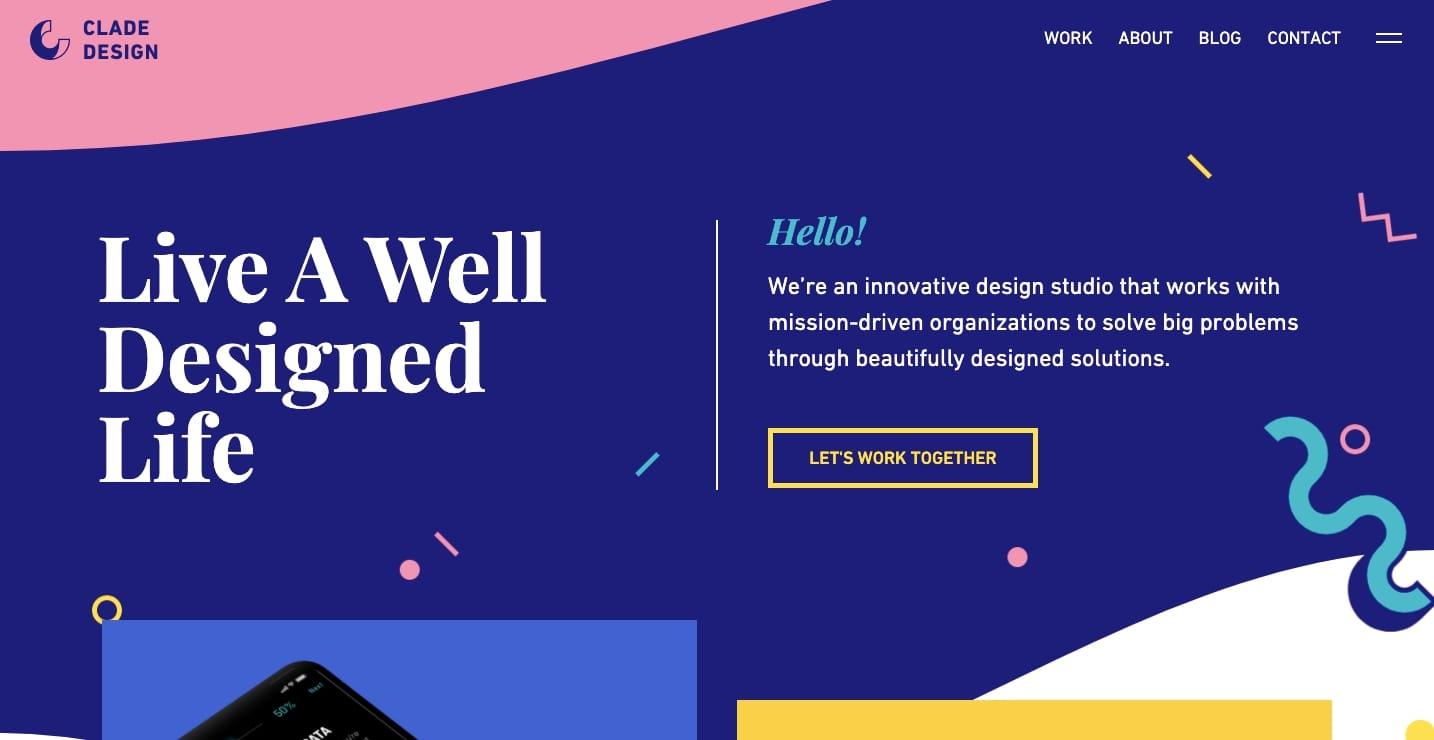 Веб-сайт дизайна клады