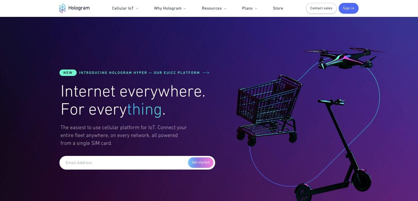 Дизайн веб-сайта с голограммой