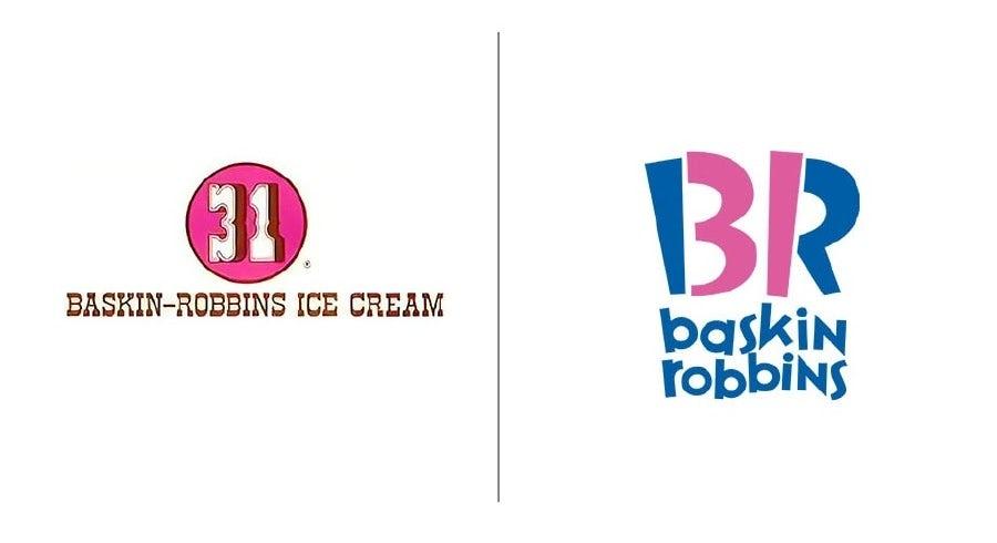 """Примеры эволюции логотипа Баскина-Роббинса """"width ="""" 900 """"height ="""" 490 """"/>    <figcaption> Эволюция логотипа Баскина-Роббинса с 1945 года до наших дней </figcaption></figure> <p> Первый логотип Baskin -Используемые роббины сами по себе неплохие, просто устаревшие. Но эволюция логотипа Баскина-Роббинса — это случай улучшения оригинала, а не «исправления» его. </p> <p> С самого начала главным преимуществом Baskin-Robbins по сравнению с конкурирующими поставщиками мороженого был их широкий выбор вкусов. Нам даже не нужно говорить вам, сколько их, потому что их брендинг сделал свою работу за эти годы. Всегда было разумным решением включить этот номер в свой логотип, чтобы любители мороженого ассоциировали имя Баскин-Роббинс с множеством вкусов. </p> <figure data-id="""