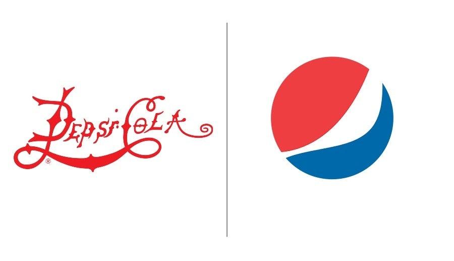 """Примеры эволюции логотипа Pepsi """"width ="""" 900 """"height ="""" 517 """"/>    <figcaption> Эволюция логотипа Pepsi с 1898 года до наших дней </figcaption></figure> <p> История эволюции логотипа Pepsi хорошо известна среди экспертов по брендингу: за 122 года было произведено 12 редизайнов. С 1898 по 1940 год бренд придерживался своего словесного логотипа, используя красный цвет, чтобы визуальные эффекты оставались яркими (что интересно, их конкурент Coca-Cola не начала использовать красный до 1950-х годов.) Редизайн в этот период вращался вокруг другой типографики и шрифтов, и даже добавления таких призывных к действию слов, как «выпить». </p> <figure data-id="""