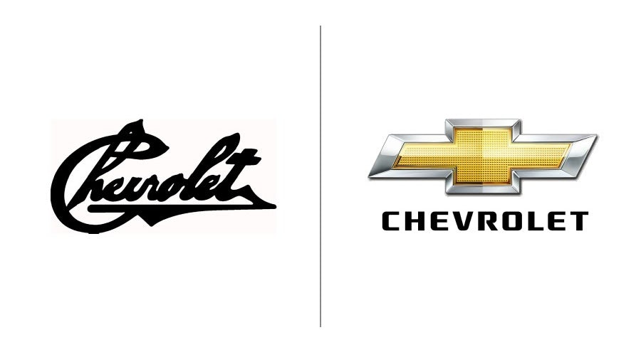 """Примеры эволюции логотипа Chevrolet """"width ="""" 900 """"height ="""" 488 """"/>    <figcaption> Развитие логотипа Chevrolet с 1911 года до наших дней </figcaption></figure> <p> Автолюбители могут узнать« крест »Chevrolet за милю, но на самом деле это был не их первый выбор. Оригинальный логотип компании 1911 года представлял собой, казалось бы, рукописный текстовый знак с небольшим чутьем, если не считать курсива и небольшой точки в подчеркивании. Знаменитая эмблема в виде креста не появлялась спустя 3 года, в 1914 году, и, согласно легенде, он пришел от соучредителя Виллиана Крапо Дюранта, вдохновленного обоями, которые он видел в парижском отеле. </p> <figure data-id="""