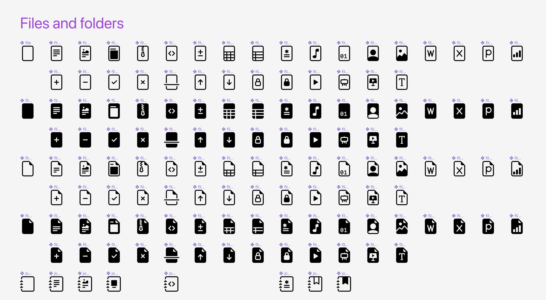 Значки файлов и папок