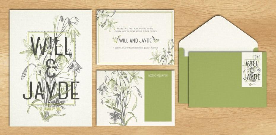"""Зеленый иллюстрированный свадебный логотип, приглашения и дизайн канцелярских принадлежностей """"width ="""" 1024 """"height ="""" 502 """"/>    <figcaption> Такой свадебный логотип может определять цветовую схему, типографику и общий вид стиль для всех ваших свадебных материалов. Дизайн Brush_Story </figcaption></figure> <p> Для веб-сайта общие элементы графического дизайна, используемые в брендинге, — это шрифты, цветовые схемы и изображения. Различные типы шрифтов могут создать настроение от элегантного до глупости, а цвета могут быть связаны с эмоциями на первичном уровне. Изображения для свадебных веб-сайтов обычно включают фотографии со счастливой парой и / или местом встречи. Если вам неудобно делать этот эстетический выбор самостоятельно, подумайте о найме графического работника-фрилансера дизайнер, который создаст свадебный логотип и расширит ваш визуальный бренд. </p> <figure data-id="""