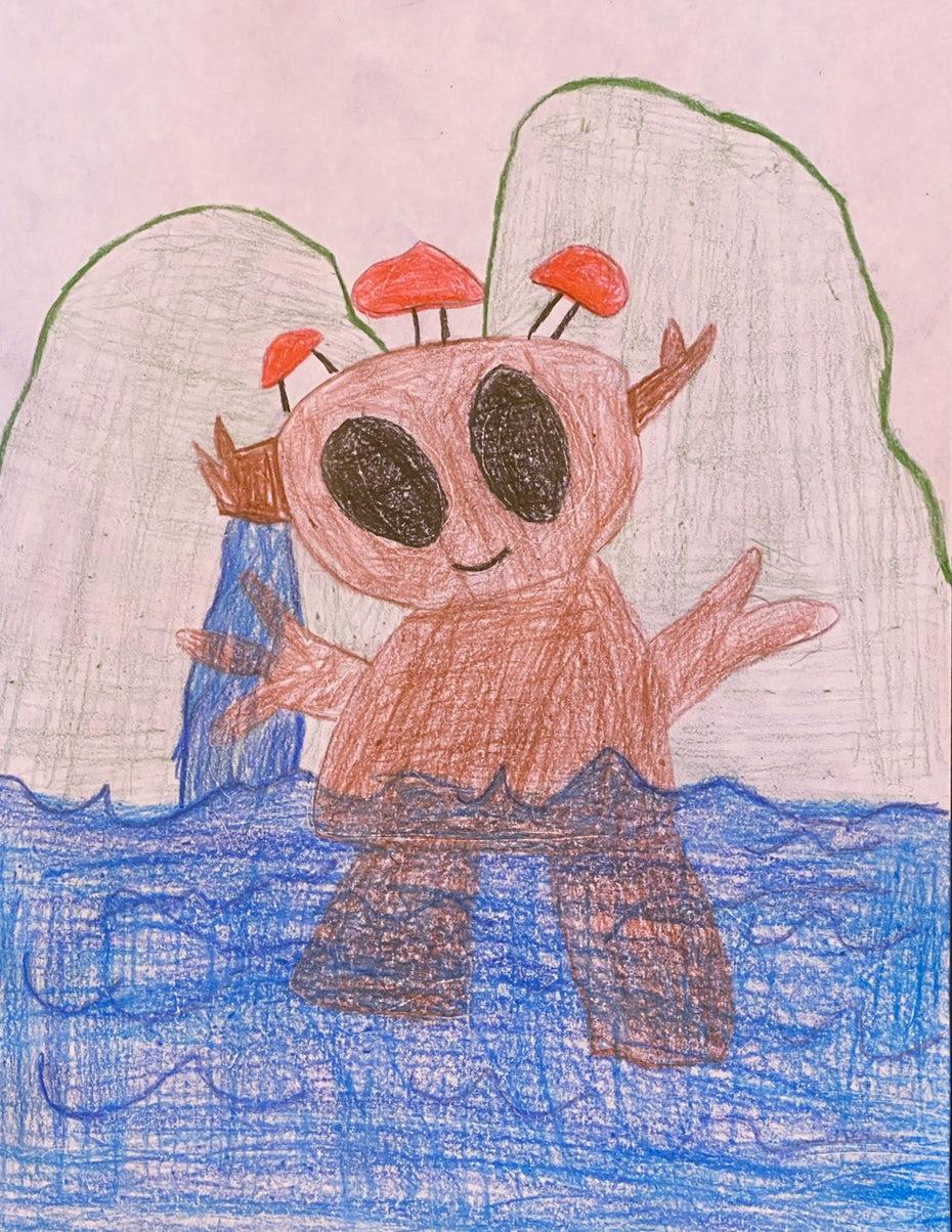 детский рисунок монстра