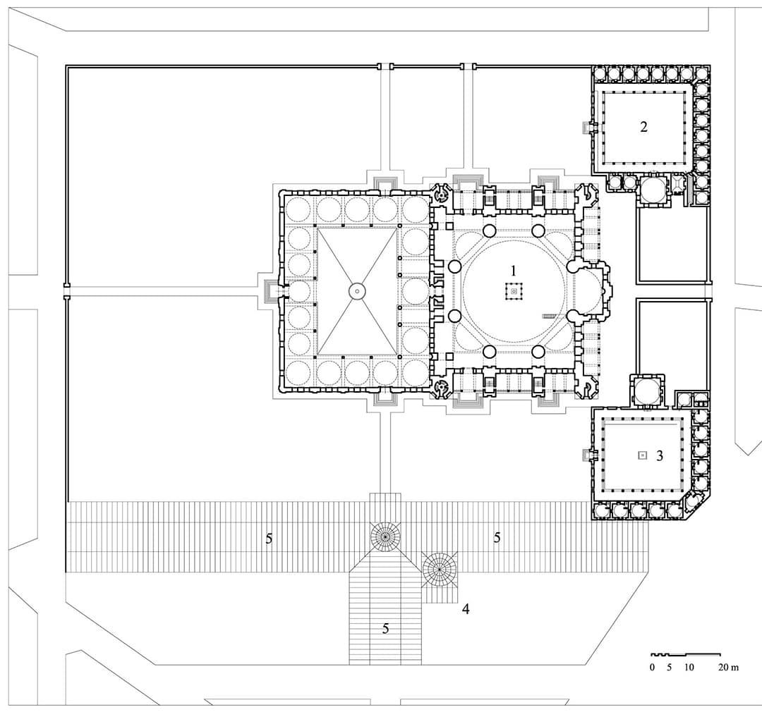 План типичной исламской мечети