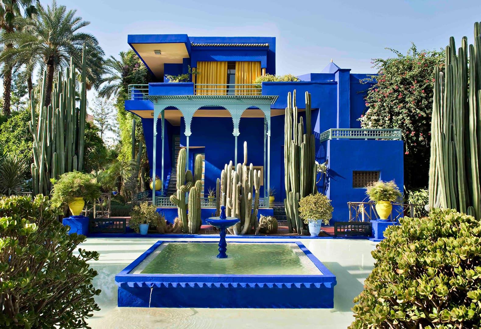 Сад Мажорель в Марракеше (вилла Ив-Сен Лорана), Марокко