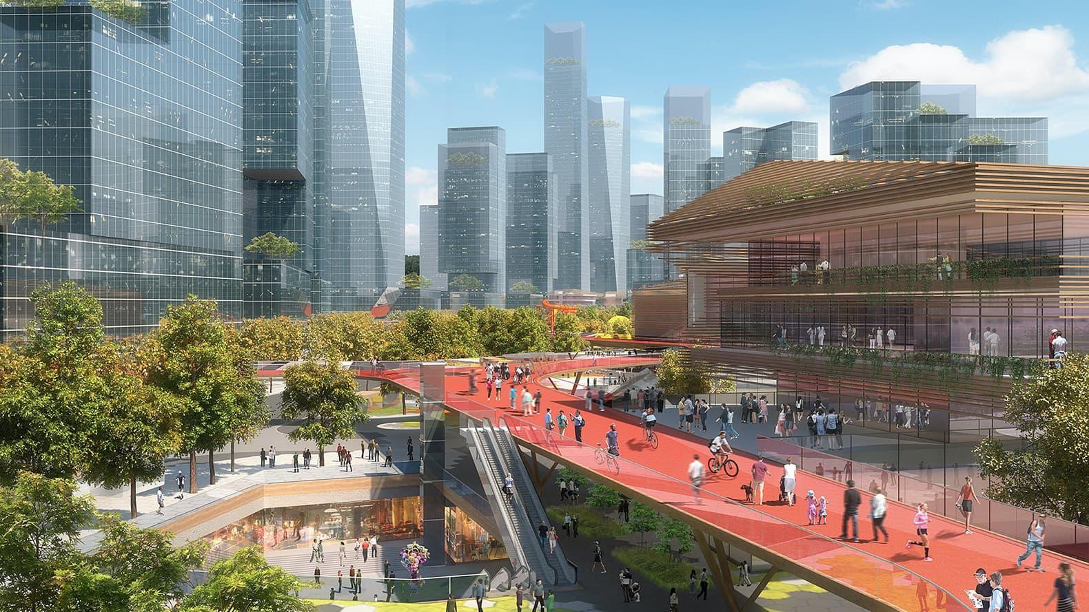 Проект нового района Ma Wan Mile в Шеньчжэне