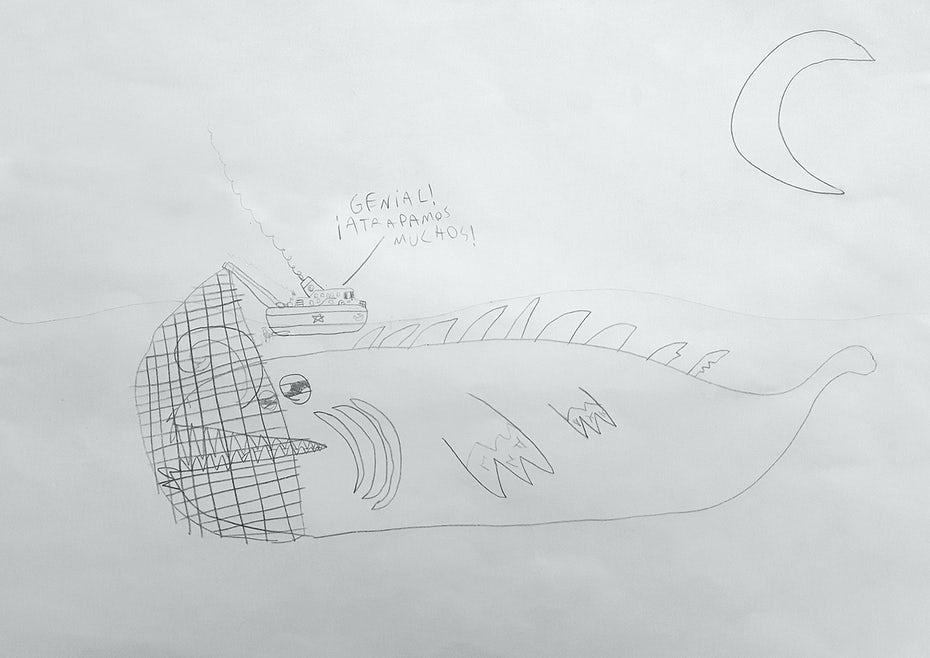 Иллюстрация морского монстра