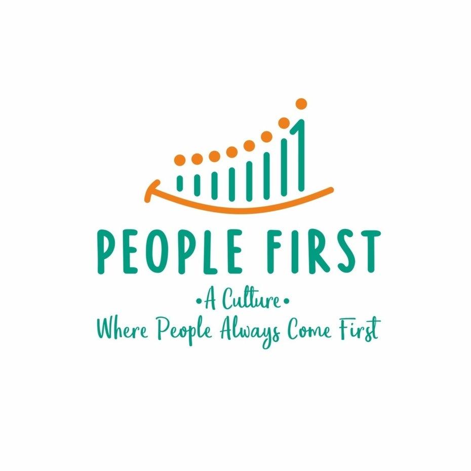 дизайн логотипа с улыбкой и людьми