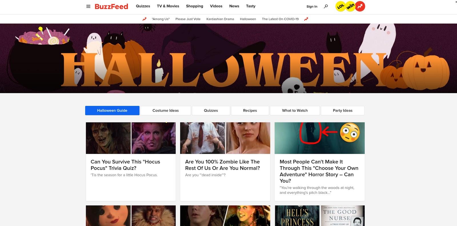 Веб-сайт BuzzFeed