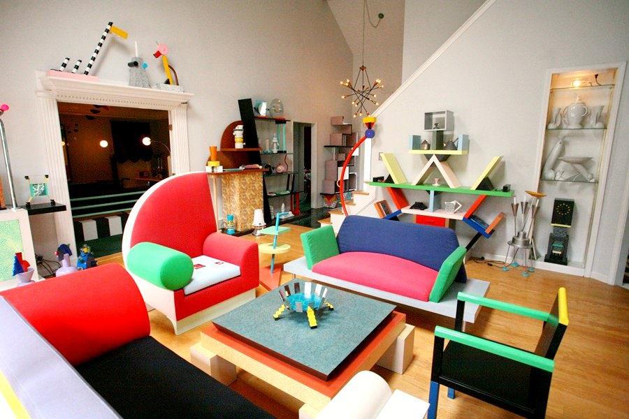 Салон дизайнерской мебели в Мемфисе 1980-х годов