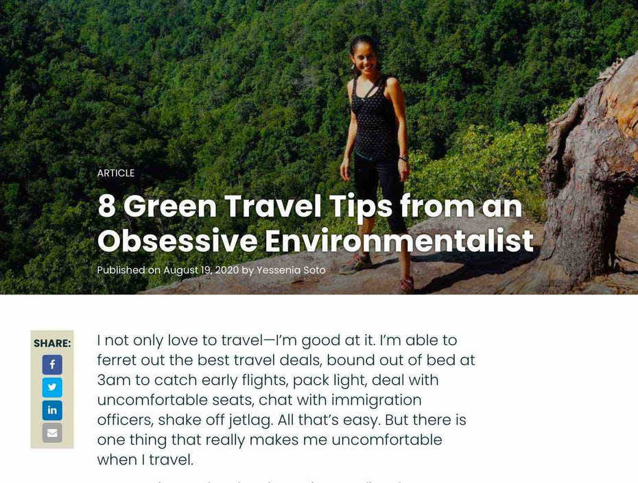 """Экологичный туризм Rainforest Alliance """"width ="""" 1538 """"height ="""" 1164 """"/>    <figcaption> Легко усваиваемый список экологически чистых советов делает это чтение привлекательным для всех, кто страдает от страсти к путешествиям. Via Rainforest Alliance </figcaption></figure> <figure data-id="""