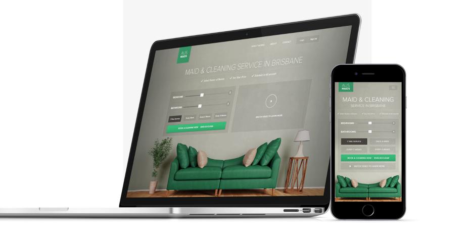 """Дизайн мобильного веб-сайта службы горничной по уборке с зеленым акцентом """"width ="""" 1417 """"height ="""" 718 """"/>    <figcaption> В этом дизайне широкое изображение главного героя обрезано для мобильной версии. Дизайн akorn .creative </figcaption></figure> <p> Разумеется, изображения и другие носители могут быть настолько широкими, насколько позволяет устройство. Пусть объект изображения определяет, насколько оно должно быть большим или маленьким, чтобы сохранить четкость. Имейте в виду что вам не обязательно помещать все изображение, но вы можете увеличить объект и вырезать посторонние элементы фона, как в примере выше. </p> <p> И последнее, но не менее важное: размер кнопки чрезвычайно важен в дизайне веб-сайта, удобном для мобильных устройств, поскольку сенсорные экраны гораздо менее надежны при вводе данных пользователем, чем мышь и клавиатура. Исследование, посвященное пожилым пользователям, рекомендует использовать сенсорные кнопки размером от 42 до 72 пикселей для оптимального доступа. <br /> <a name="""