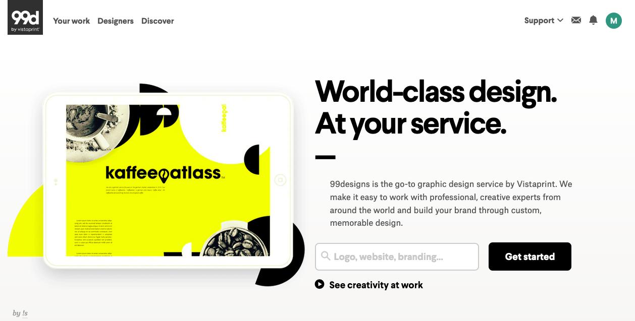 """Альтернативы Canva: 99designs """"width ="""" 1258 """"height ="""" 637 """"/>    <figcaption> Альтернатива самостоятельному дизайну: 99designs </figcaption></figure> <p> Здесь на помощь приходят платформы графического дизайна . </p> <p> На платформе дизайна, такой как 99designs, вы можете легко найти и нанять графического дизайнера, который соответствует вашим потребностям. Сообщество 99designs включает в себя дизайнеров-фрилансеров на любой вкус, стиль, навыки или бизнес-цели. Если вам нужно что-то оформленное — будь то логотип, инфографика, этикетка, веб-сайт, флаер или онлайн-реклама — вы всегда можете передать свою задачу по дизайну профессионалу. Вот как это работает. </p> <h3 id="""