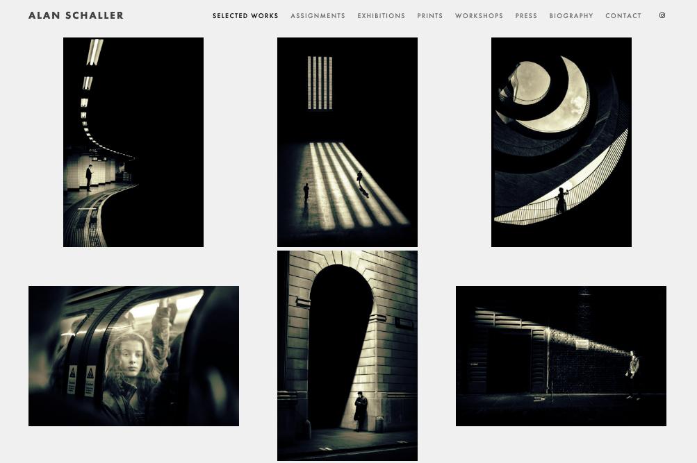 """Скриншот дизайна веб-сайта фотографии для Алана Шаллера """"width ="""" 1003 """"height ="""" 667 """"/>    <figcaption> Виа Алан Шаллер </figcaption></figure> <figure data-id="""