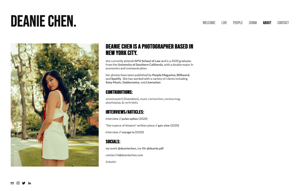 "Скриншот дизайна веб-сайта фотографии для Дини Чен ""width ="" 998 ""height ="" 625 ""/>    <figcaption> Виа Дини Чен </figcaption></figure> <figure data-id="