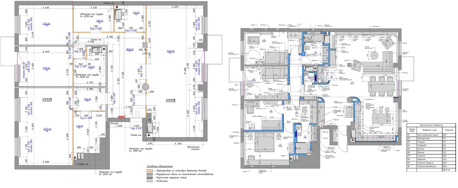 Квартира с камином в стиле эко-минимализм — проект архитектурного бюро Nikolai Bannikov Interiors. Планировка