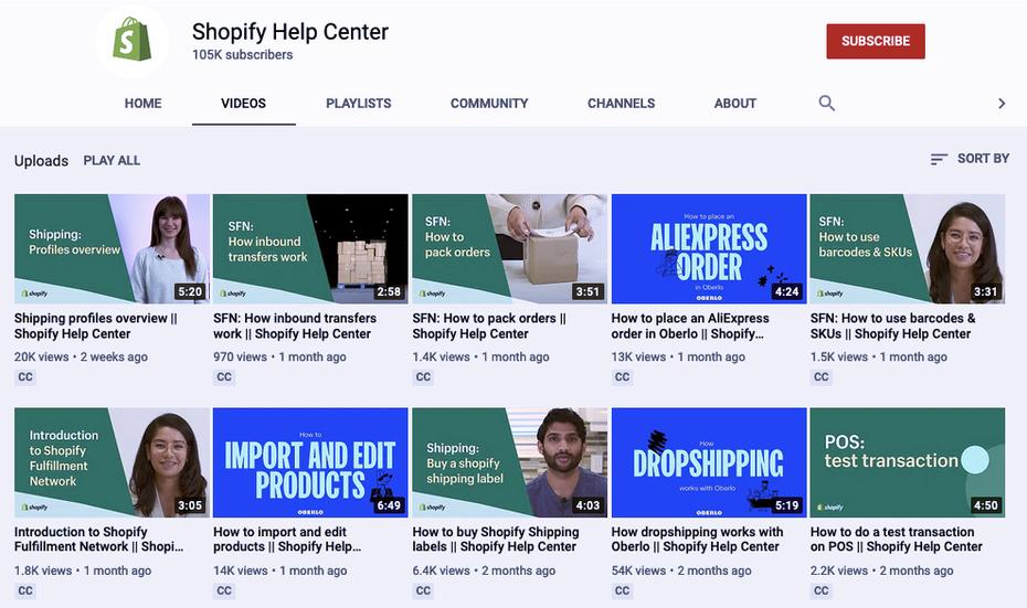 """Руководства по Shopify на канале Shopify YouTube """"width ="""" 989 """"height ="""" 586 """"/>    <figcaption> Через YouTube </figcaption></figure> <p> <strong> Справочный центр Shopify на YouTube [Shopify] </strong> </p> <p> Прежде всего, мы хотим направить вас на отличный ресурс для обучающих программ Shopify: собственный канал Shopify на YouTube. Здесь вы можете найти массу видео по разным темам, которые помогут вам начать работу. Большинство видео длится около 5 минут и посвящены определенной теме, поэтому вам не придется тратить время на анализ уже известной информации. Есть даже плейлист для новичков. </p> <p> <strong> Как создать сайт Shopify за 9 шагов [99designs] </strong> </p> <div class='code-block code-block-3 ai-viewport-1 ai-viewport-2' style='margin: 8px 0; clear: both;'> <!-- Yandex.RTB R-A-268541-2 --> <div id="""